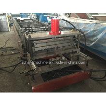 Folha industrial galvanizada qualidade do obturador do rolo do aço 755mm que faz a máquina