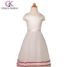 Grace Karin Sleeveless Satin Tulle Flower Girls Dresses For Wedding CL4831