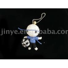 boneca de vodu de corda de futebol artesanal de presente de promoção