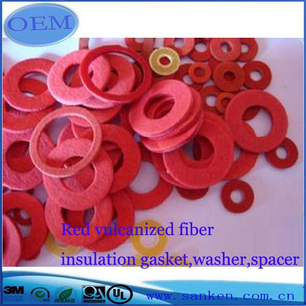 red vulcanized fiber insulation gasket,washer,spacer (3)