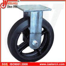 Moule sur roulette fixe en caoutchouc avec centre de fonte