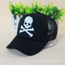 Luminous Skull Printed Halloween Mesh Baseball Cap (YKY3039-2)