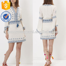 New Fashion Ivory Embroidered Kaftan Dress Manufacture Wholesale Fashion Women Apparel (TA5245D)