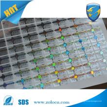 Etiqueta personalizada anti-falso adesivo / etiqueta de etiqueta anti-falsificação / etiqueta anti-falsificação de laser