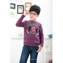 Winter-Jungen-weicher gemusterter Pullover-Wollpullover