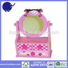 wooden kids mini vanity children dressing table