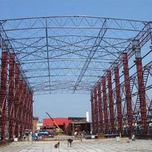 Steel Structure Mobile Workshop, Can be Moved Follow Steel Channel and Special for ShipyardNew