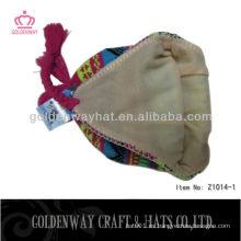 Los sombreros hechos punto invierno más nuevos ganchan los earflaps calientes baratos para la venta