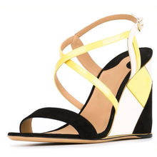 2017 новый стиль последний дизайнер высоких каблуках сандалии Клин