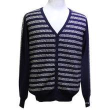 2017 High quality Autumn Buttoned V Neck men's sweater design, men cardigan sweater