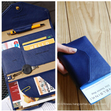 2015 Leather PU Passport Document Wallet (FS6991)