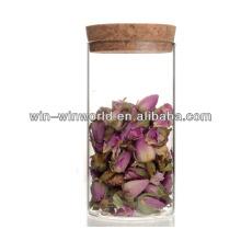 Pots en verre hermétiques de stockage de 500ml Pyrex avec des couvercles de liège