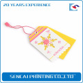 Sencai fancy color toy double tag with pink rope buckle handle