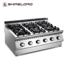 Dessus de cuisinière de gaz de cuisine de la série x de table supérieure 6 avec le coffret