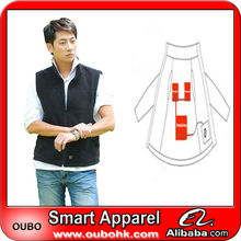 Fashion Waistcoat For Men Design with electric heating system heated clothing warm OUBOHK