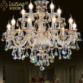 entrance hall crystal chandelier lighting, modern Gold Iron ceiling chandelier