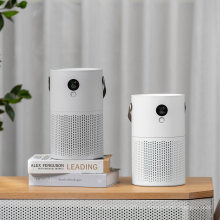 Smart Home Portable Desktop Air Purifier Negative Ion Cleaner LED Display Mini Air Purifiers with HEPA Filter