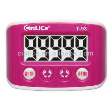 Display digital LCD com podómetro com clip de cinto