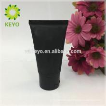 Tubo suave plástico cosmético de la crema de la cara de la crema de la cara del tubo de la crema de la mano del negro 50ml