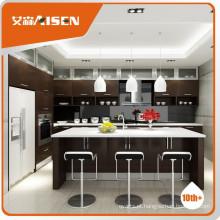 Popular para design de gabinete de cozinha do mercado do Canadá, design de cozinha moderna, armário de cozinha