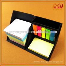 Fancy gefaltete Pappe Haftnotizen und Notizblöcke Set mit Stiftbehälter für Großhandel
