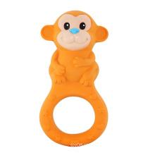 Macaco em forma de brinquedos de dentes de borracha, teethers de borracha, brinquedo do bebê Teether