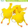 Venta caliente Halloween Vent pollo colocación huevo llavero Tricky juguetes para la diversión