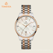 Womens diamante-acento de dois tons pulseira de aço inoxidável relógio 71187