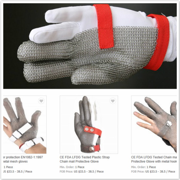 Ring Mesh Gloves Three Finger