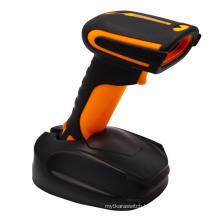 Rugged Bluetooth Handheld Barcode Scanner with Cradle
