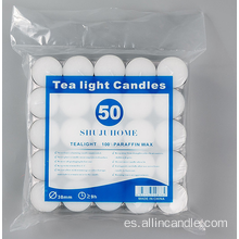 Color blanco tealights velas blancas uk