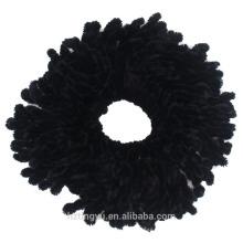 Forme a mujeres la muchacha Hair Band musulmán flor hijab volumizer pelo Scrunchie