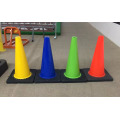 High Quality 28′′ Black Base PVC Roadway Safety Traffic Cones