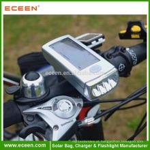 Solar recarregável LED de segurança de bicicleta traseira