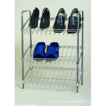 Wholesale Price Metal Chrome Slanted Shoe Rack (CJ-B1111)
