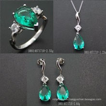 Lady Fashion Jewelry Set with Green Spinel
