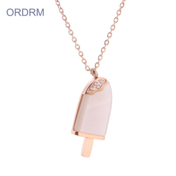 Personalizado 16 Polegada Rose Gold Ice Cream Colar