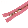 Cinta Rosa Gold Plating Metal Teeth Separating Zipper