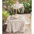 Runde einzigartige satin Tischdecke für Hochzeitsdekoration