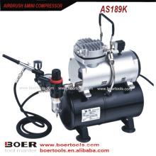 Airbrush Compressor Kit com tanque de 3L make up compressor