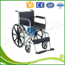 Medical Portable Steel Lightweight Folding Wheelchair For Handicapped