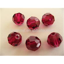 Perlas de cristal de la manera, granos redondos del cristal