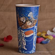 Copo de papel da bebida fria impressa costume de 8oz 12oz 16oz 20oz