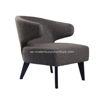 Samtida Fabric Hotel Lounge Chair Reproduktion