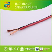 Hochwertiges rotes und schwarzes Lautsprecherkabel