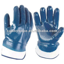 Sunnyhope billig blau Nitril beschichtet Arbeitshandschuhe malaysia ce