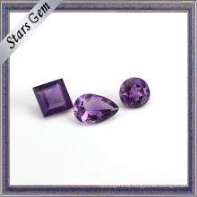 Claro natural semipreciosa piedras preciosas de amatista púrpura para joyería