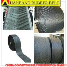 v type patterned chevron rubber conveyor belt