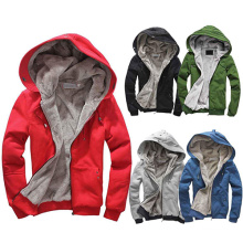 Winter Warm High Quality Plain Full Zip-up Hoodies