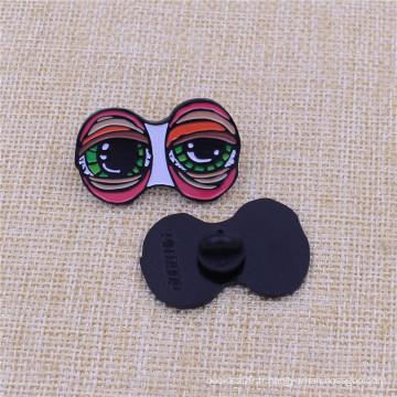Faites sur commande votre Pin de nickel noir d'émail doux de conception avec le chapeau en caoutchouc